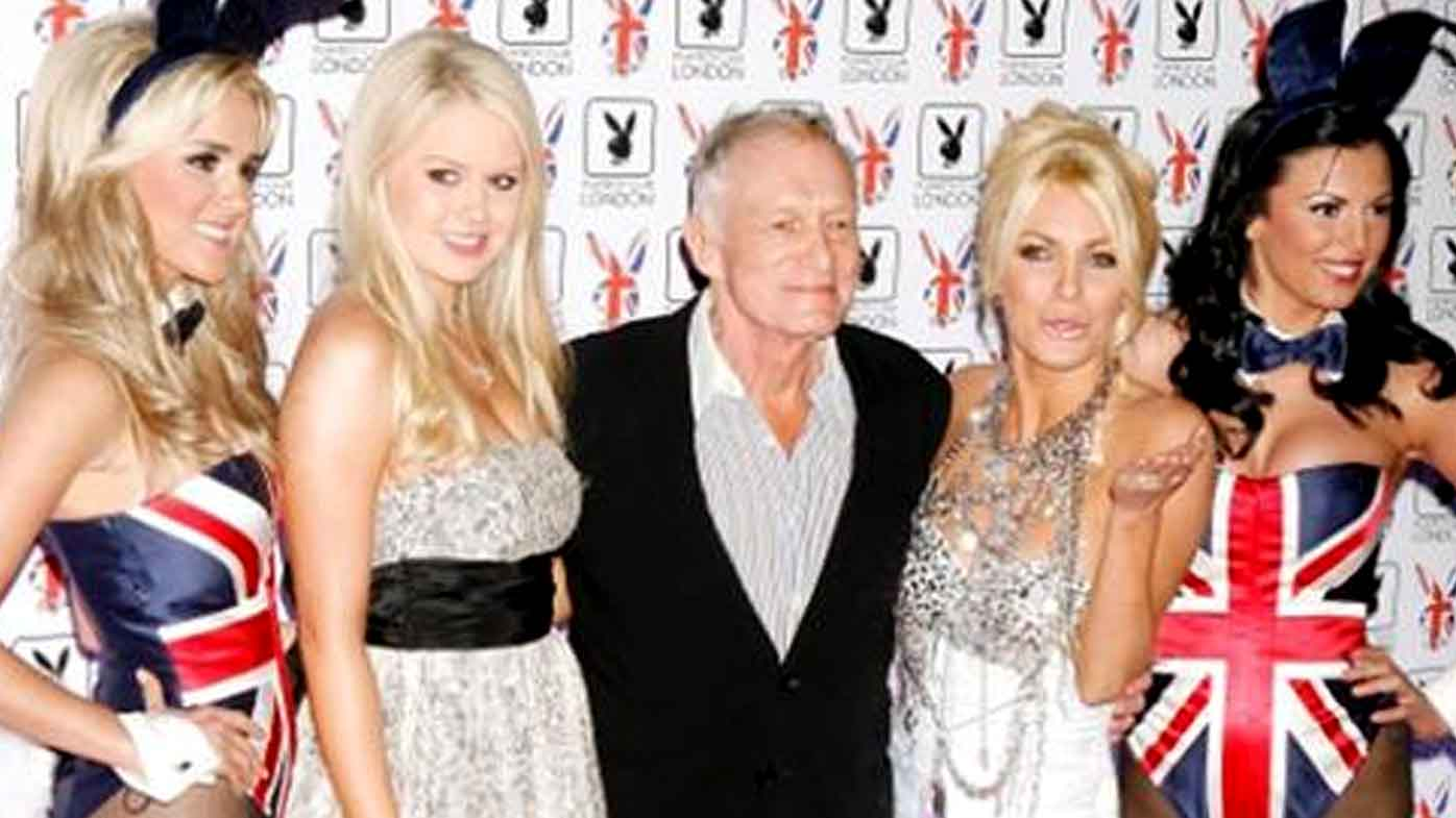 If you purchase the home, the condition is that Hugh Hefner is allowed to continue living there. (Supplied)
