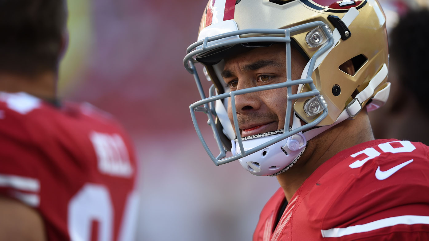 The 49ers placed Hayne on a waiver list yesterday, meaning other franchises will have the right to sign him. (AAP)
