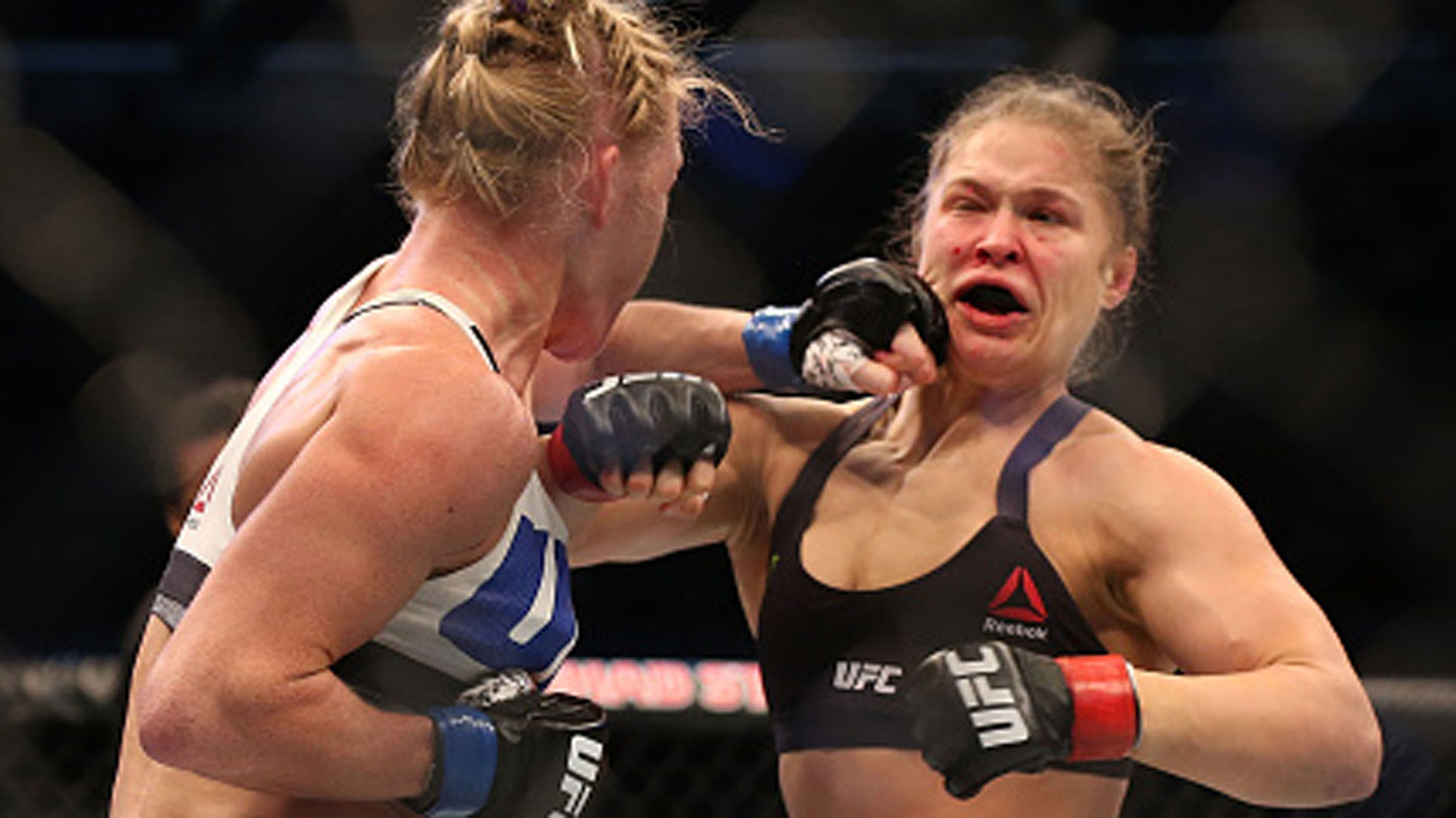 """Ronda Rousey admitted Holm was the """"biggest threat"""" to her undefeated title. (Getty)"""