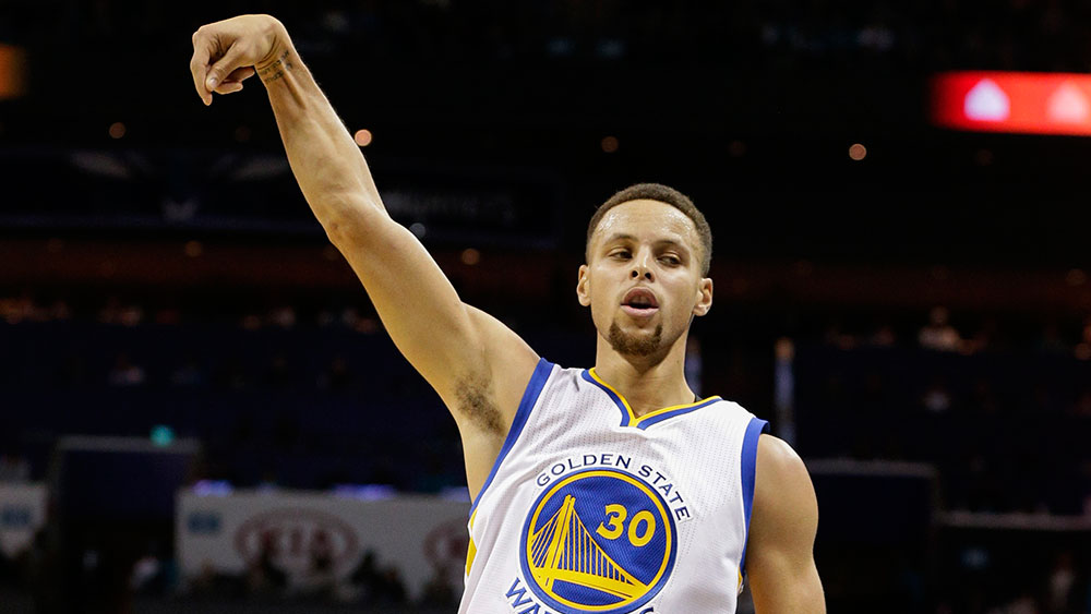 Steph Curry was at his sublime best once again. (AAP)