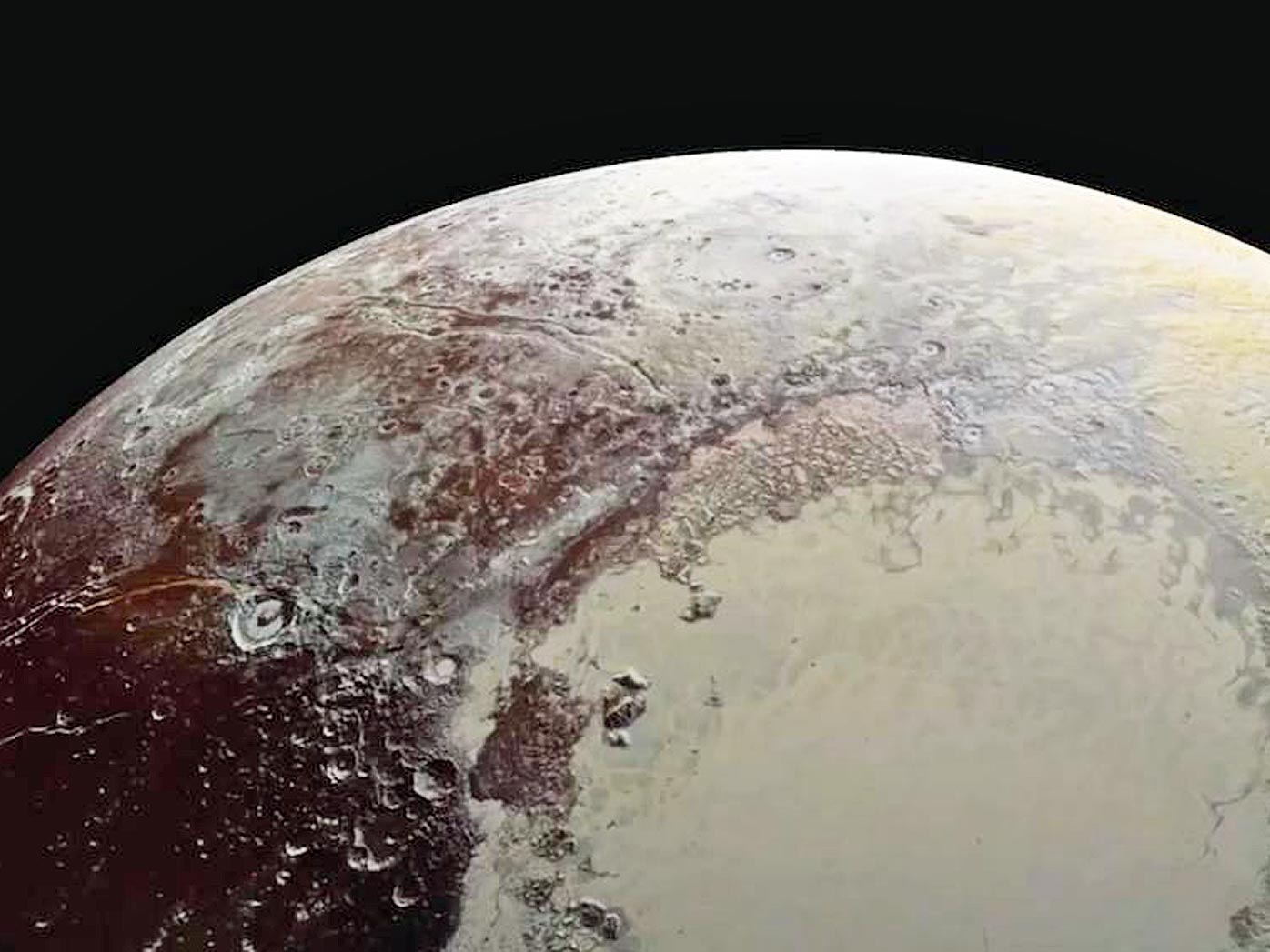 New Horizons is still transmitting data from its encounter with Pluto. (The new imagery may reveal one of the largest cryovolcanoes in the solar system. (NASA)