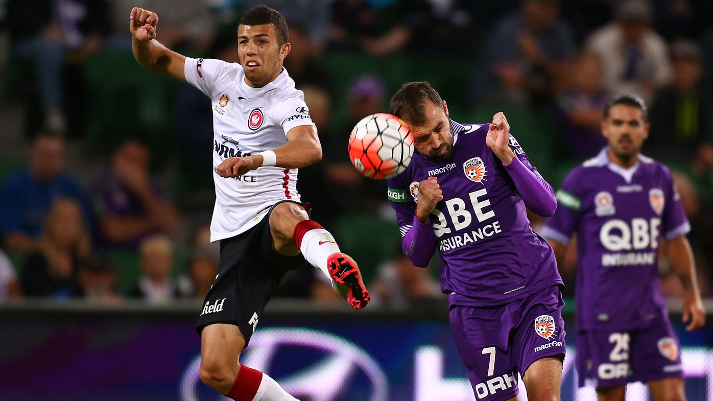 Perth Glory put an end to the Wanderers' winning streak with a dramatic 2-2 draw