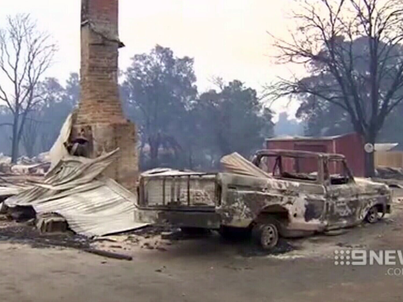 The historic town of Yarloop that was devastated. (9NEWS)