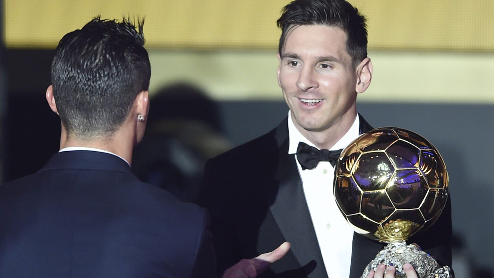 Messi wins Ballon d'Or for fifth time