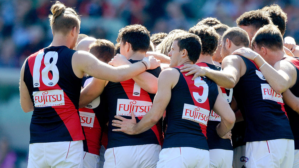 Essendon Bombers players. (AAP)