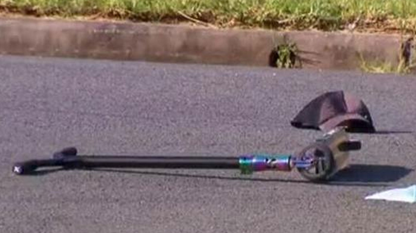 The scooter the boys were riding at the time of the accident. (9NEWS)