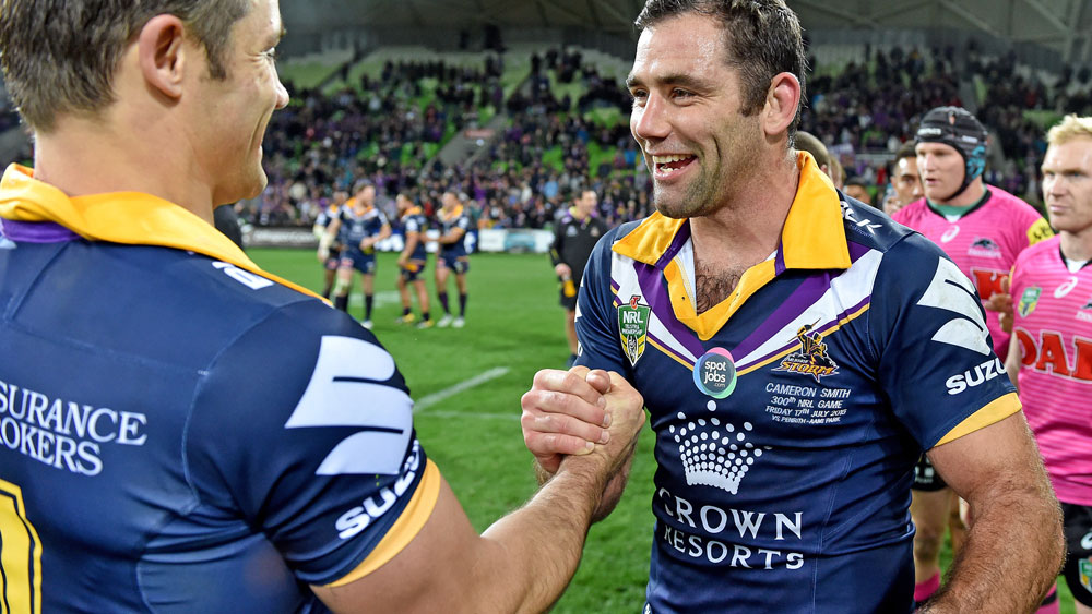 Cooper Cronk and Cameron Smith. (AAP)