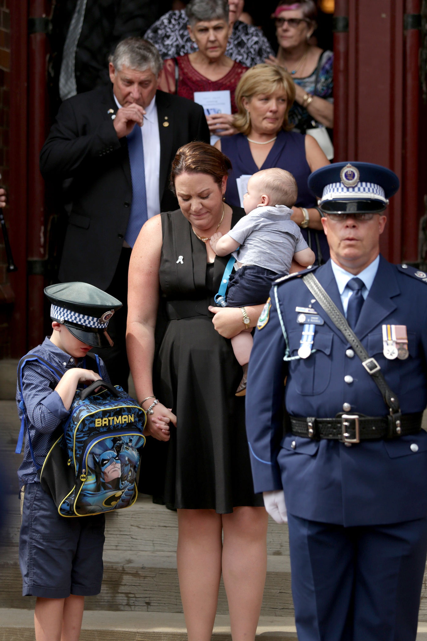 The Richardson family at the funeral. (AAP)