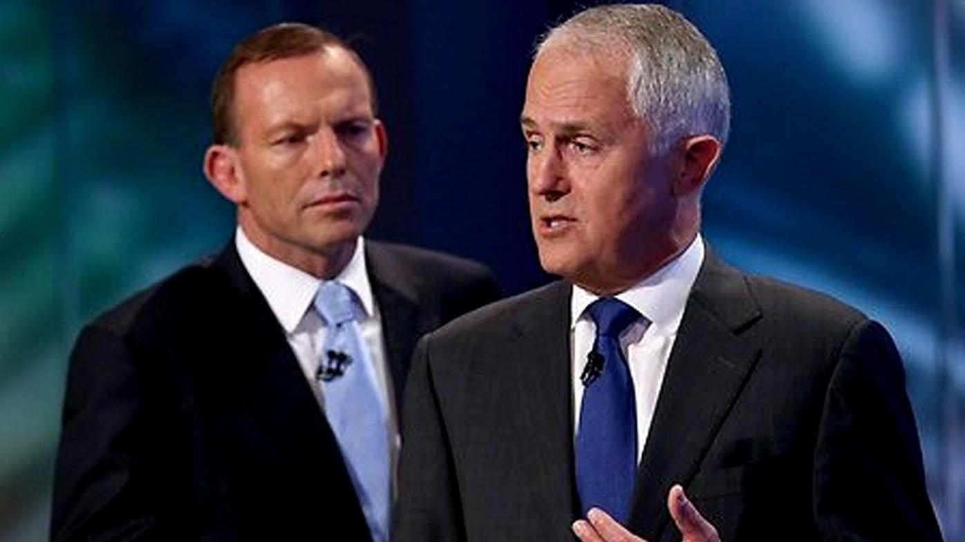 Tony Abbott and Malcolm Turnbull. (AAP)