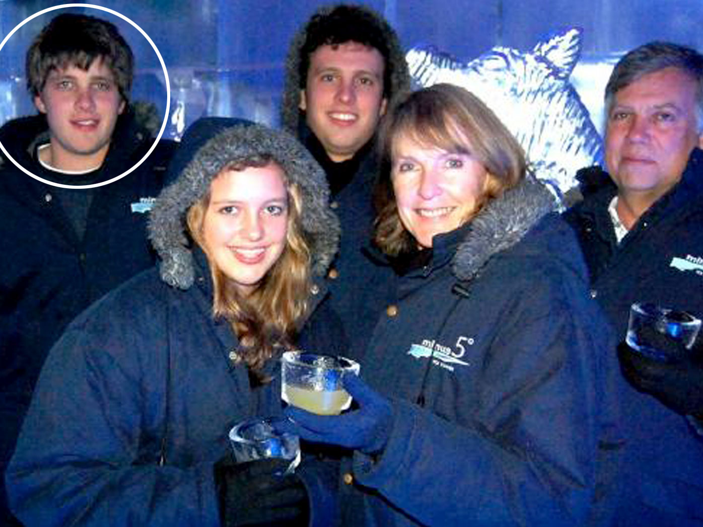 Henri van Breda, top left, with the family members he is alleged to have murdered.