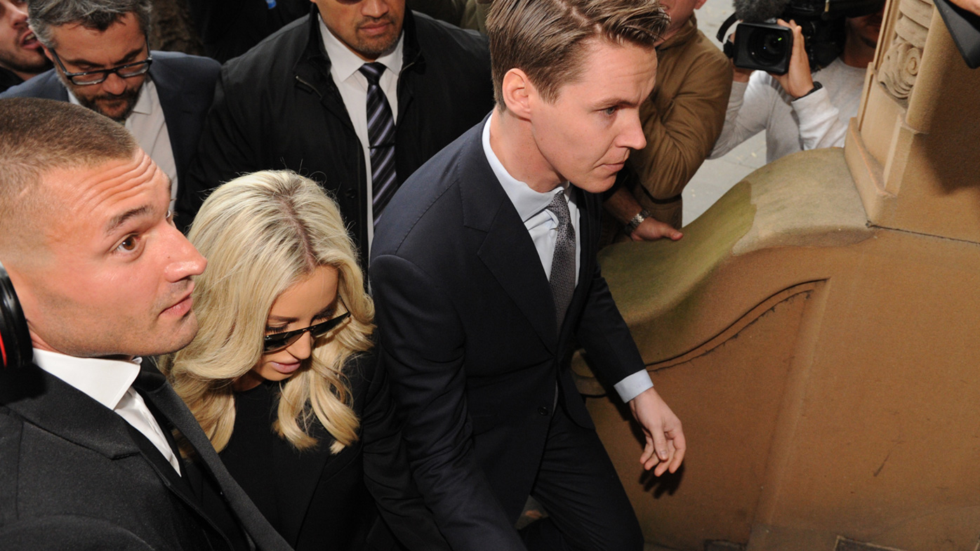 Oliver Curtis and wife Roxy Jacenko (AAP)