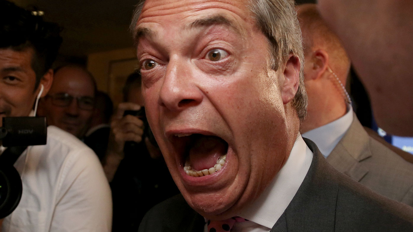 Ukip leader and prominent Brexit leave supporter Nigel Farage. (AAP)