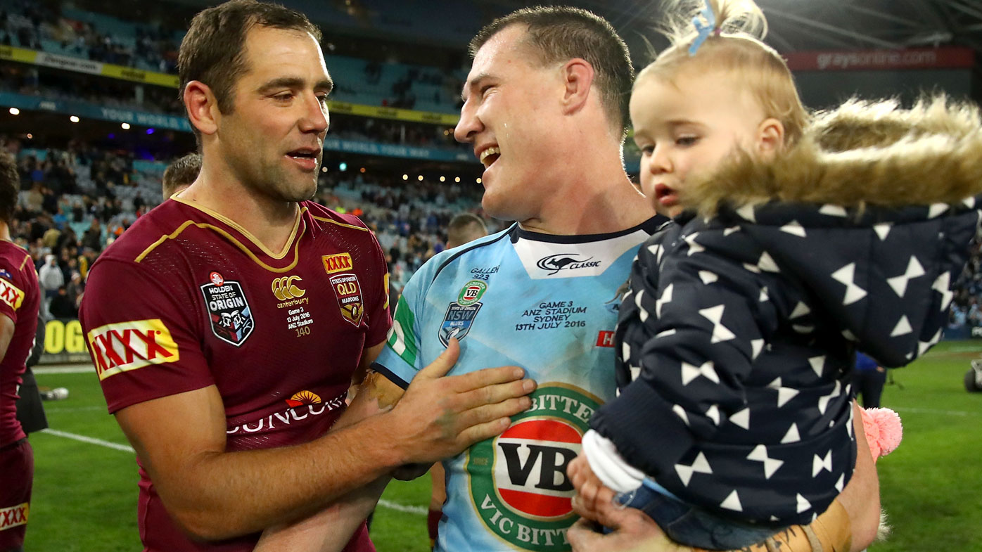 Cameron Smith and Paul Gallen. (AAP)