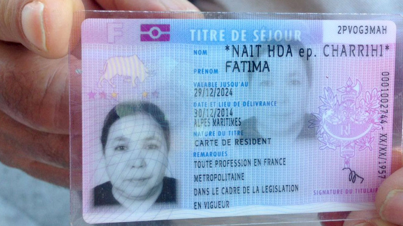 The identity card of mother-of-seven Fatima Charrihi, killed in the Nice attack. (l'Express magazine)