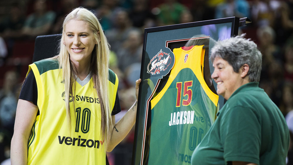 Lauren Jackson, left (AAP)