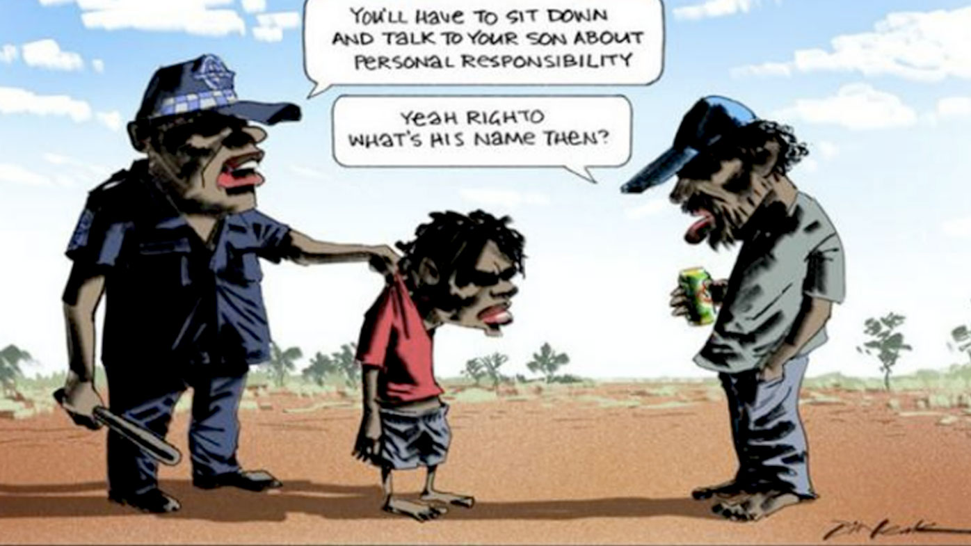 The late Bill Leak's infamous cartoon.