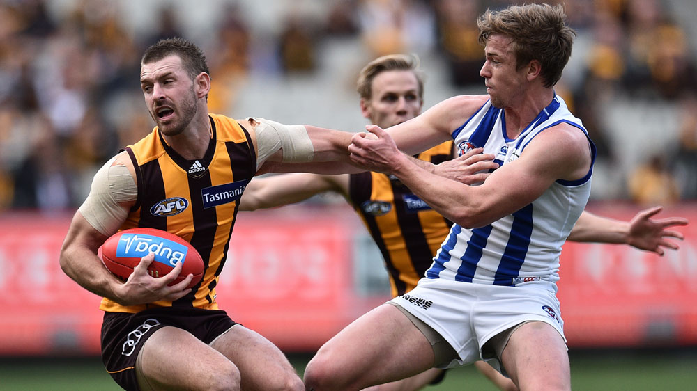Fast-starting Hawks beat Roos in AFL