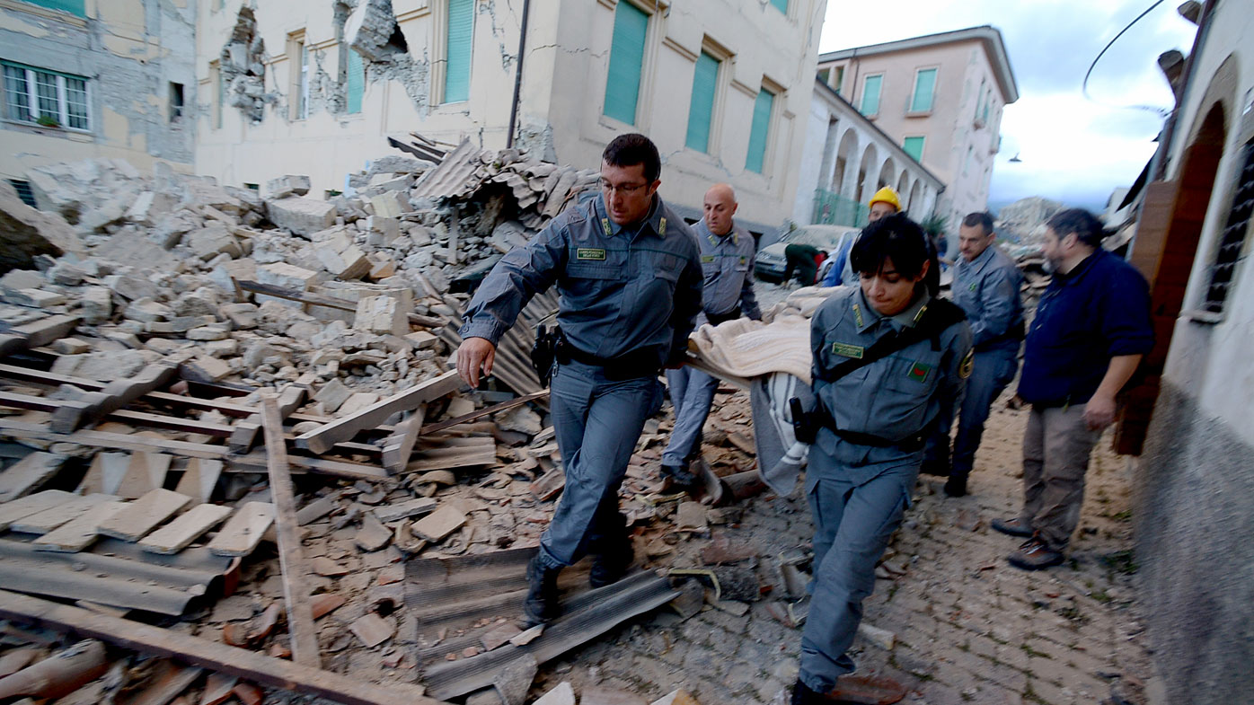 Embassy checking for Aussies in Italy after deadly earthquake