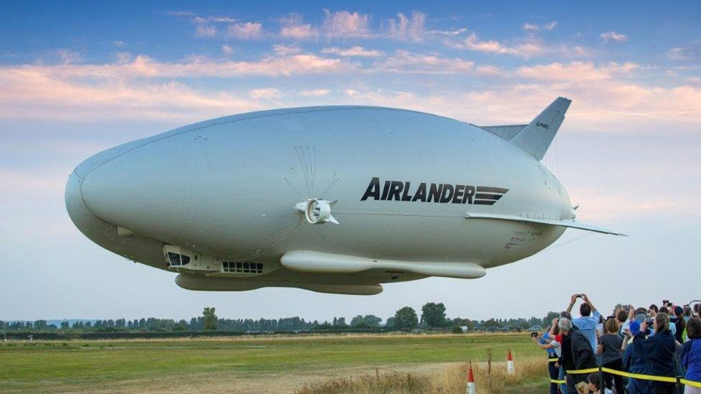 A file photograph of the Airlander 10. (AAP)
