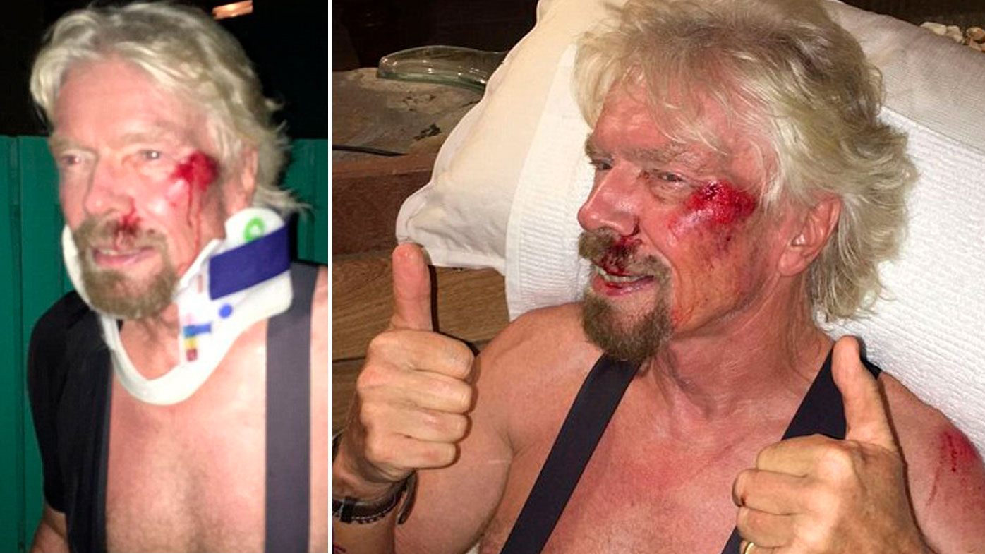 'I thought I was going to die': Sir Richard Branson reveals horror bike crash