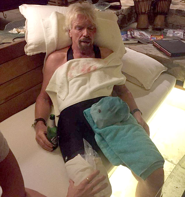 'My life was literally flashing before my eyes,' Sir Richard said. (Virgin)