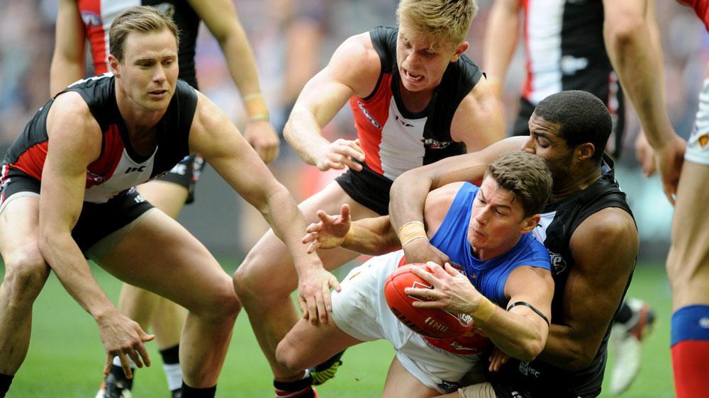 Nine-goal Nick leads Saints to AFL victory