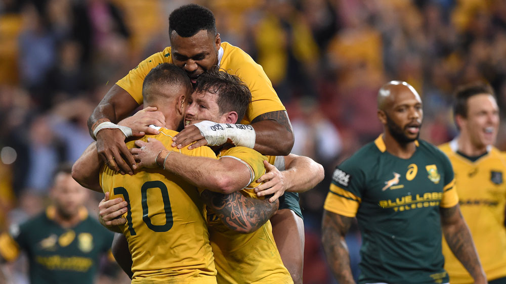 The Wallabies will face NZ with the All Blacks a chance of breaking the all-time consecutive wins record. (AAP)