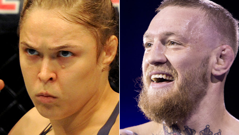 Ronda Rousey and Conor McGregor. (AAP)