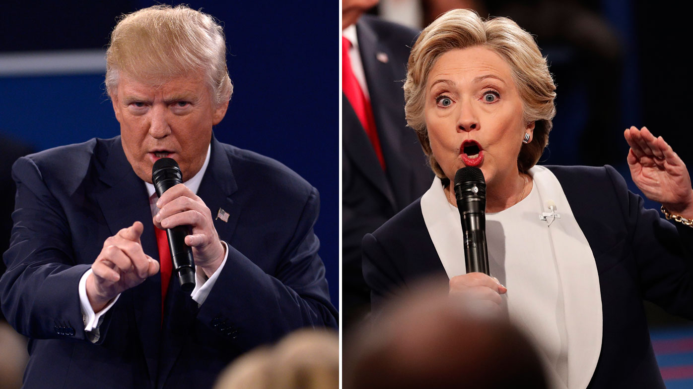 Donald Trump, and Hillary Clinton. (AFP file images)