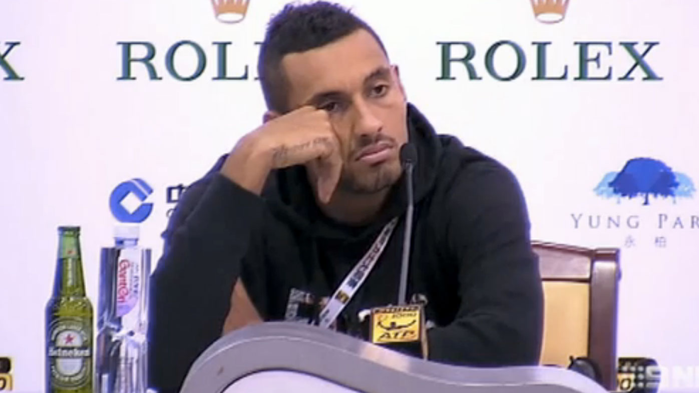 Nick Kyrgios has been banned by the ATP. (AAP)