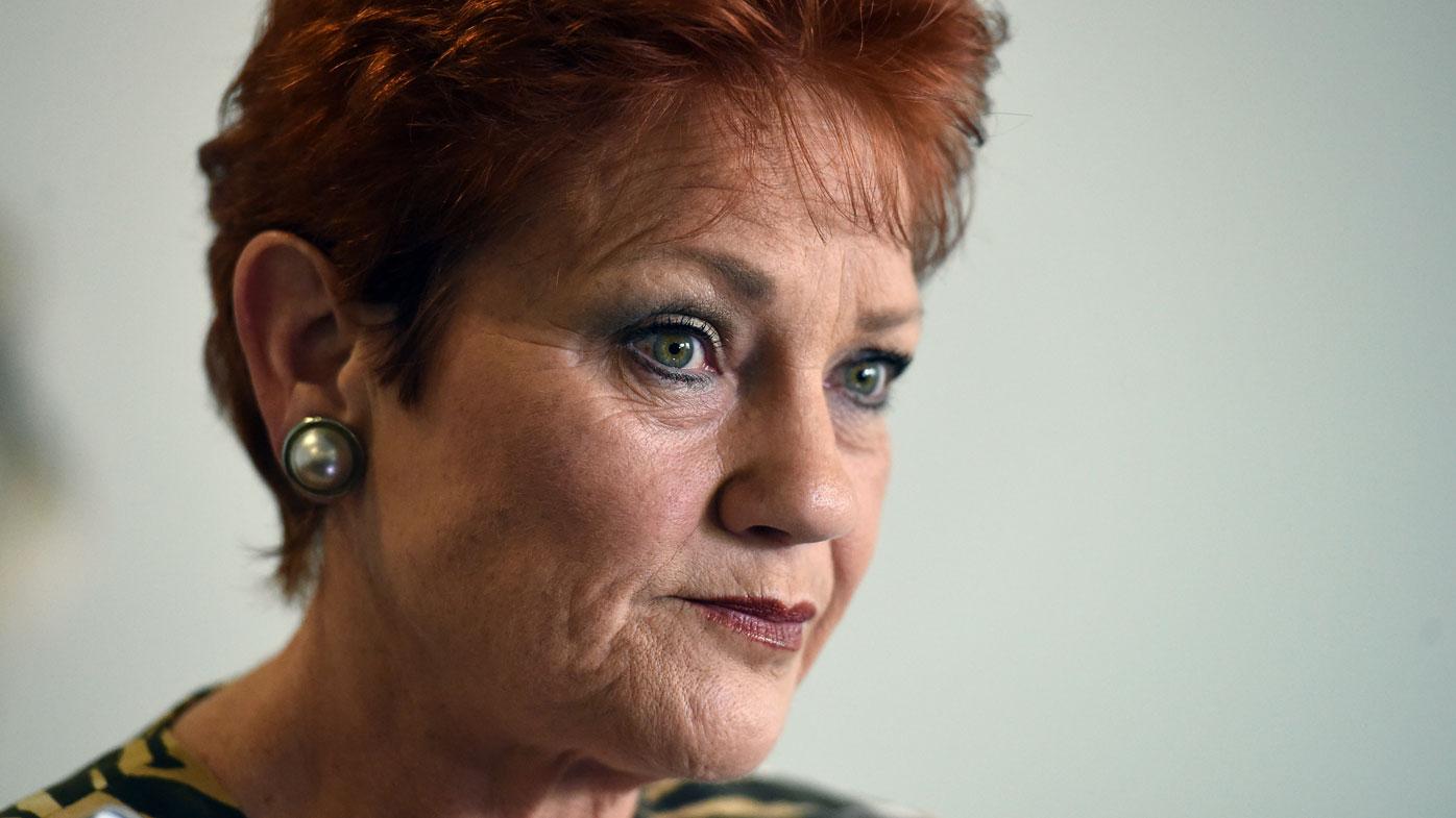 One Nation leader Pauline Hanson. (AAP)
