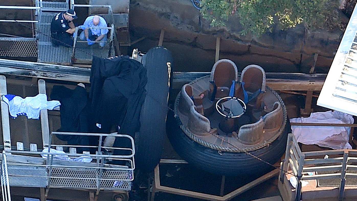 Four people died in the theme park ride accident. (9NEWS)