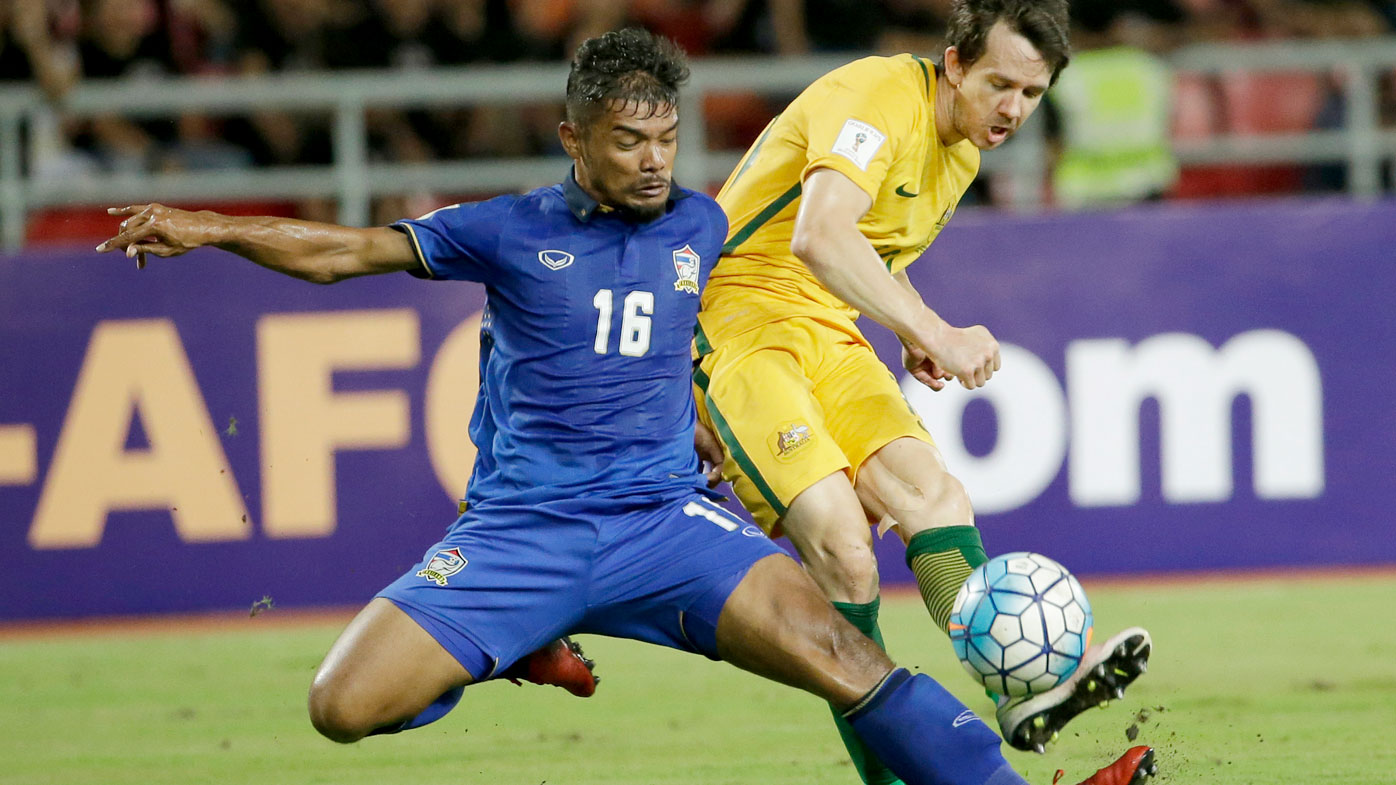 Shaky Socceroos held to draw by Thailand