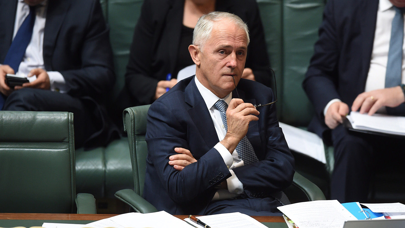 Malcolm Turnbull reacts during House of Representatives Question Time. (AAP)