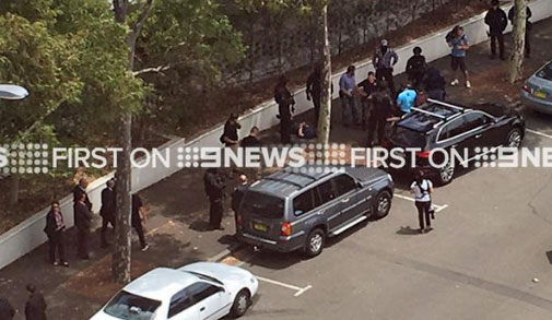 Arrests were made at Sydney Olympic Park. (9NEWS)