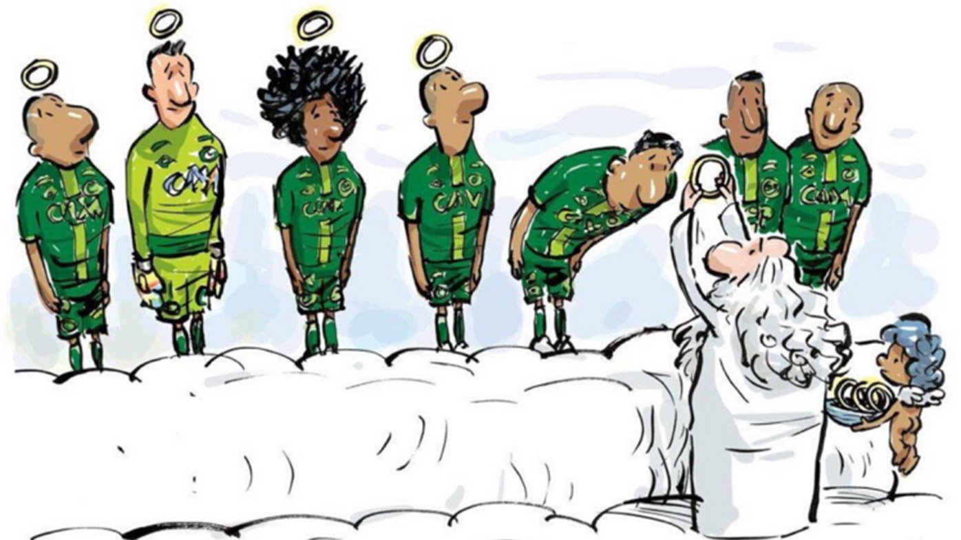 Chapecoense pays emotional tribute to players killed in crash