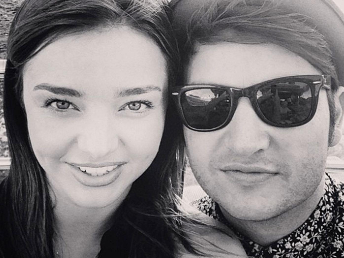 Supermodel Miranda Kerr and her brother, Matt. (Instagram)