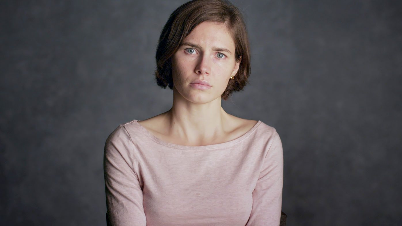 Amanda Knox pictured in a 2016 documentary about her fight for freedom. (AAP)