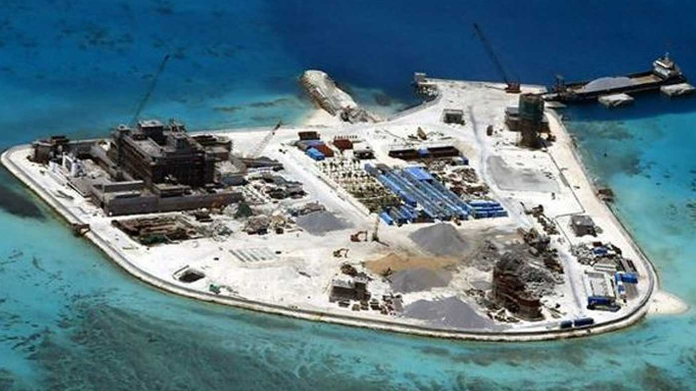 The controversial man-made islands in the South China Sea constructed by  China.