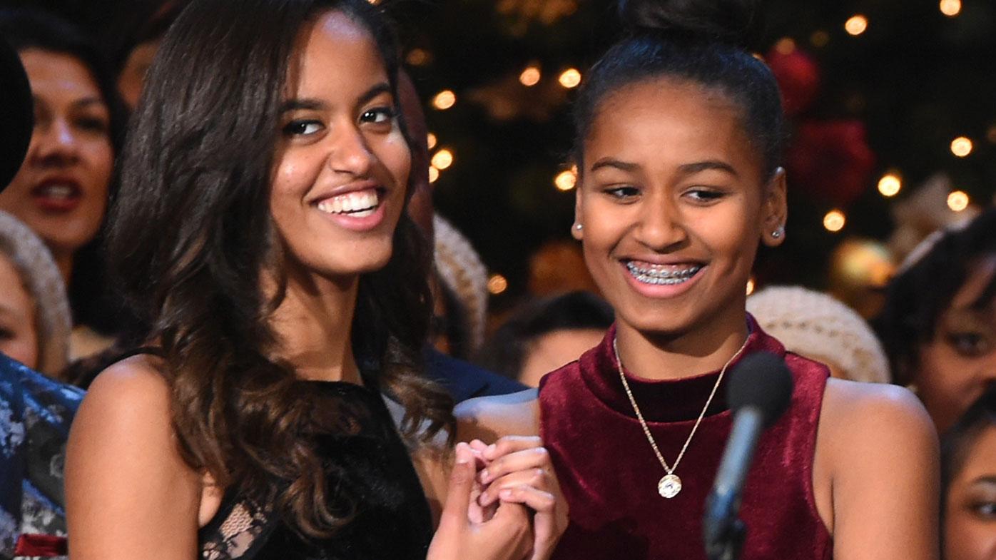 Malia and Sasha Obama in 2014. (AFP)