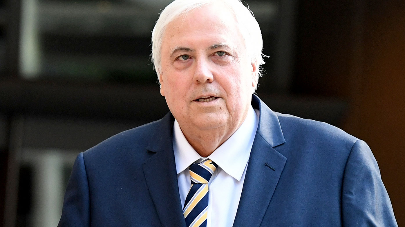 Clive Palmer riled by questions over woman he paid $250k to fly in private jet