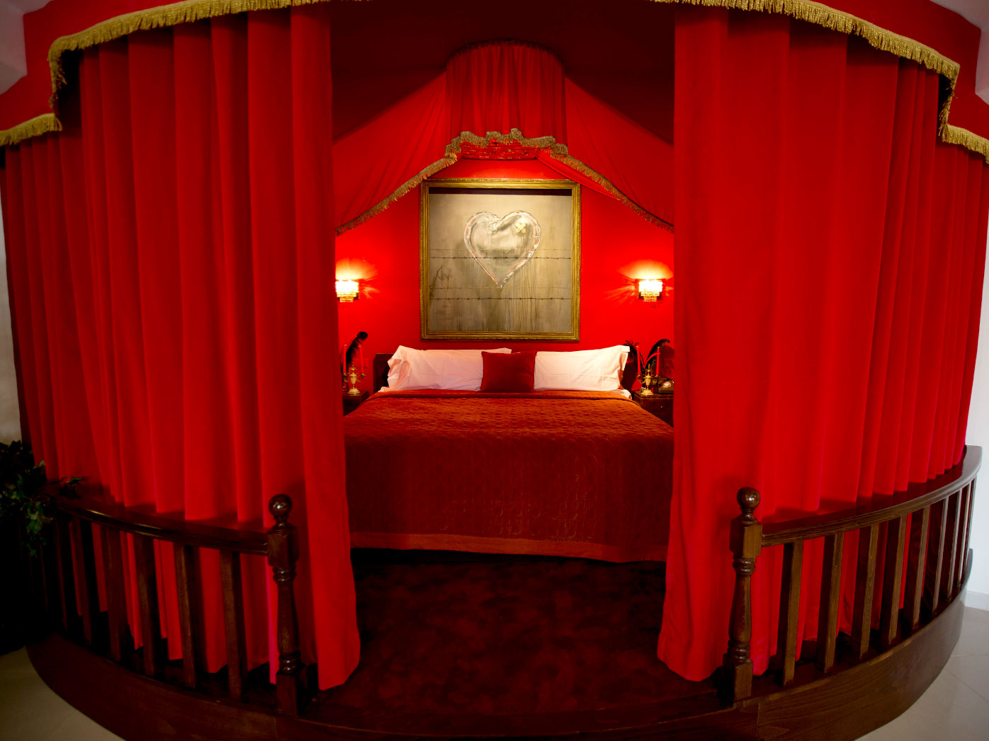 """The presidential suite of """"The Walled Off Hotel"""" in the West Bank city of Bethlehem. (AAP)"""