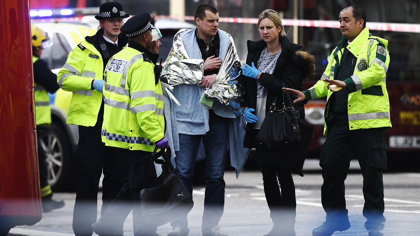 Witnesses have reported chaotic scenes outside London parliament. (Getty)
