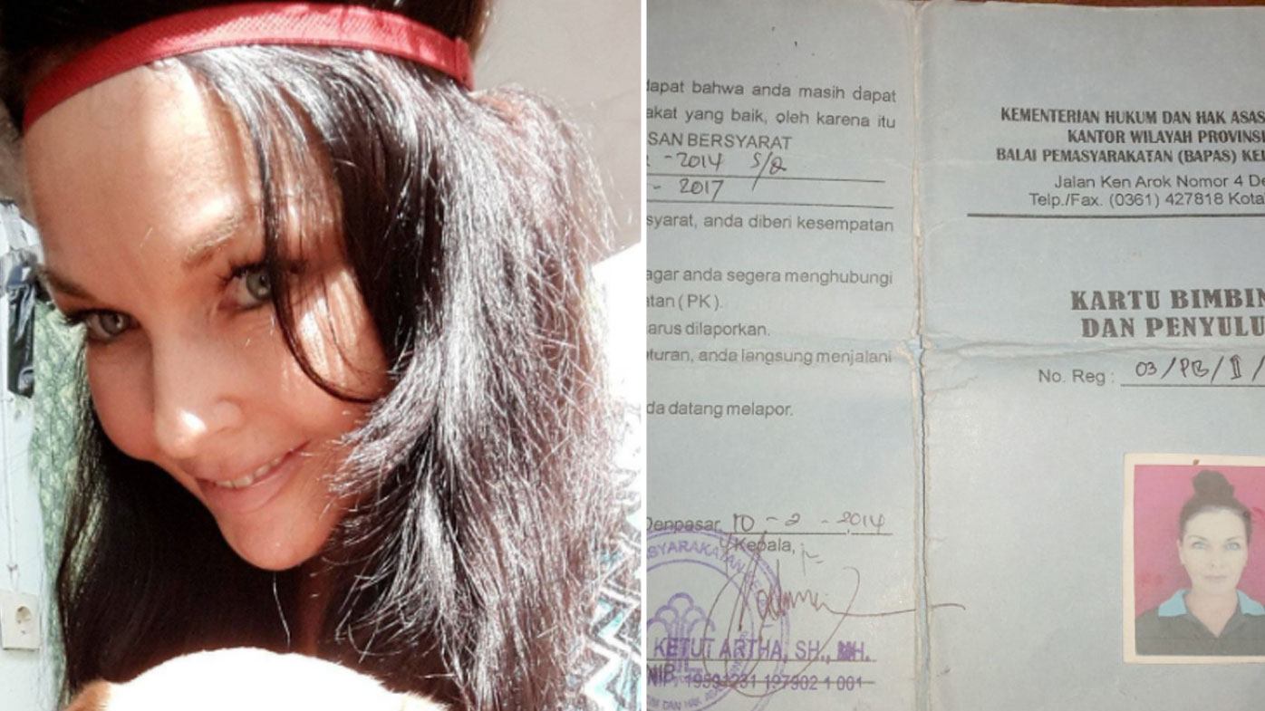 """Schapelle Corby posted her parole paper work with the caption: """"Approaching parole office for the last time""""."""