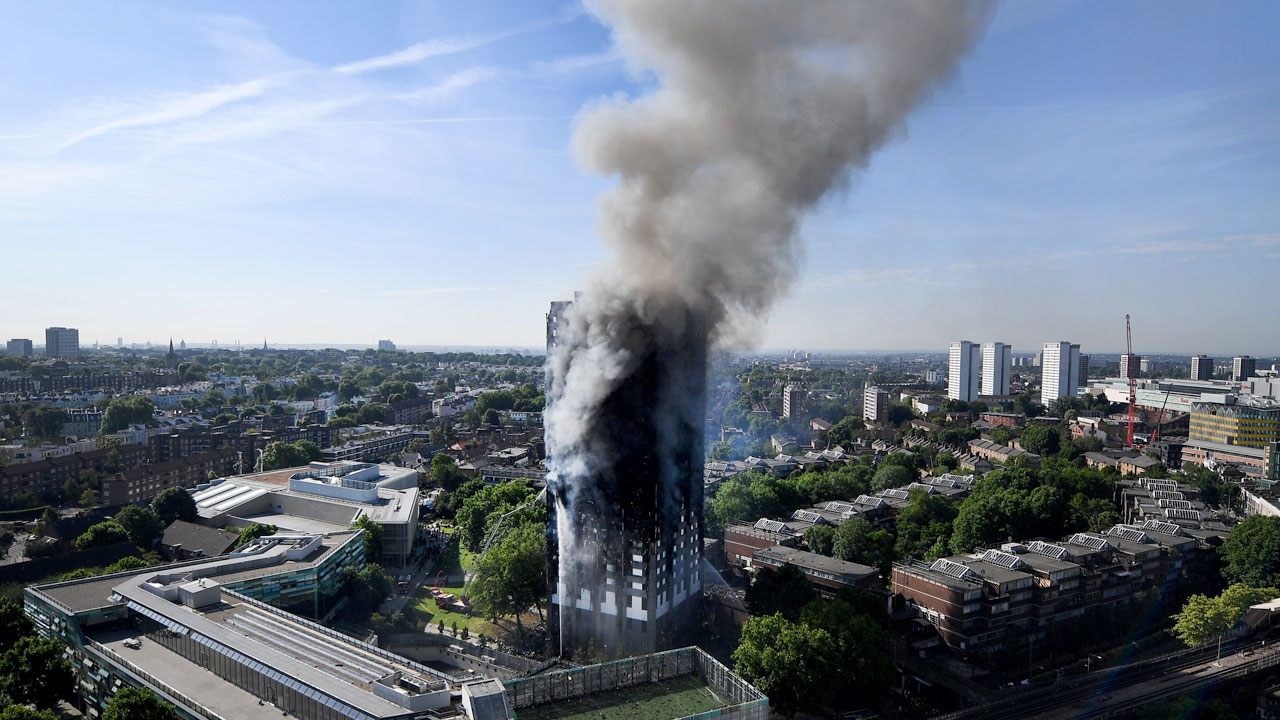 A man is facing fraud charges after allegedly lying about losing family members in the Grenfell Tower fire. (AAP)