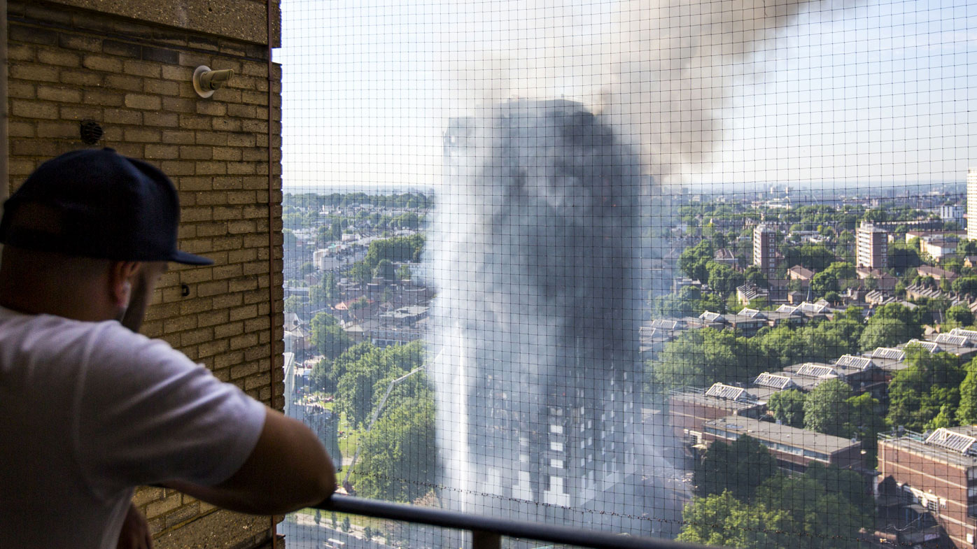 A resident in north London watches the tragedy unfold at Grenfell Tower.