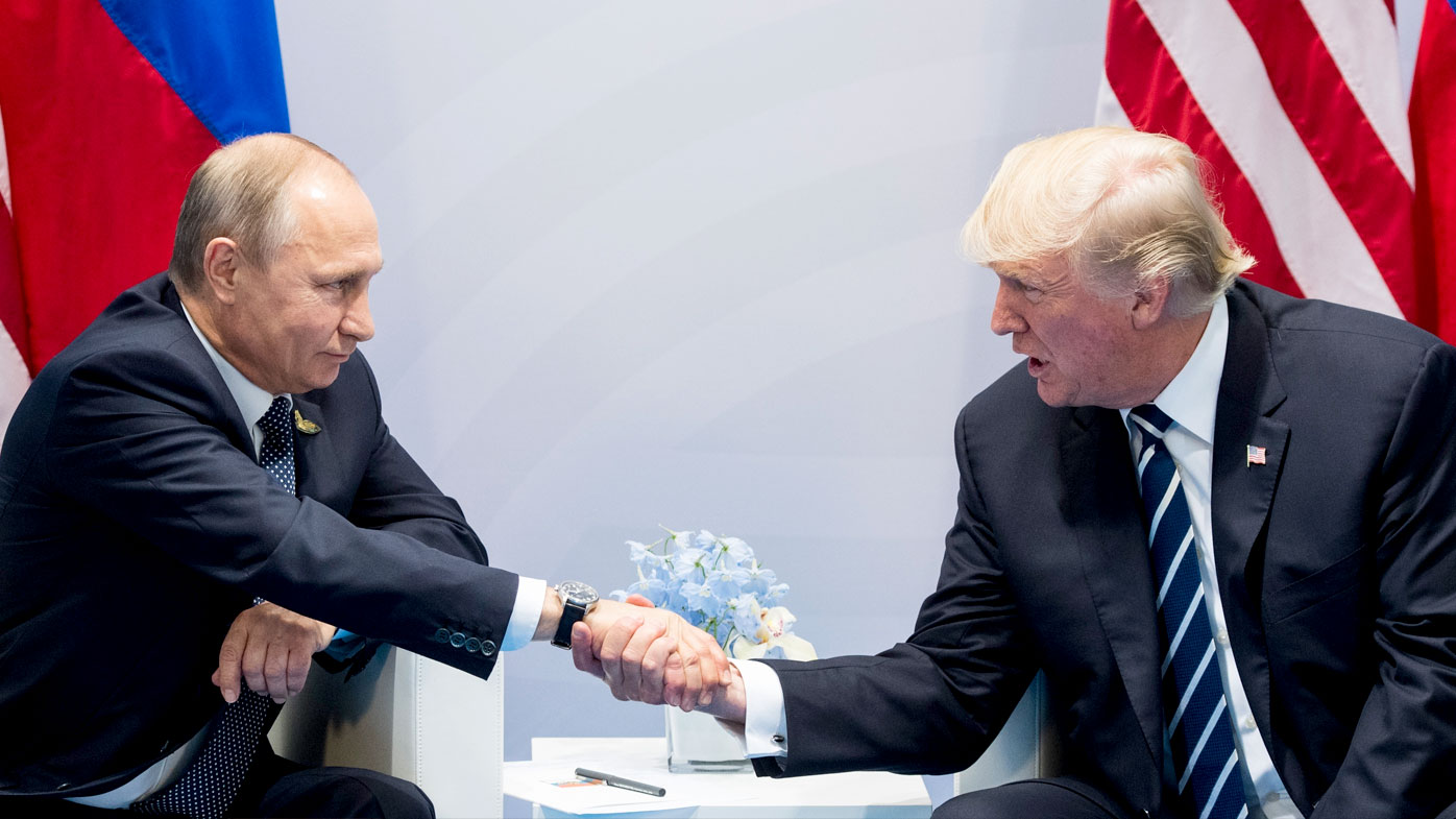 The contact between Vladimir Putin and Donald Trump has been hotly anticipated during the G20 summit in Hamburg. (AAP)