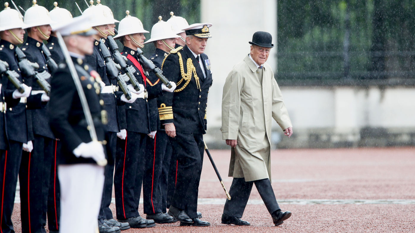 Prince Philip, the Duke of Edinburgh, attends the Captain General's Parade as his final individual public engagement before retirement at Buckingham Palace in London. (AAP)