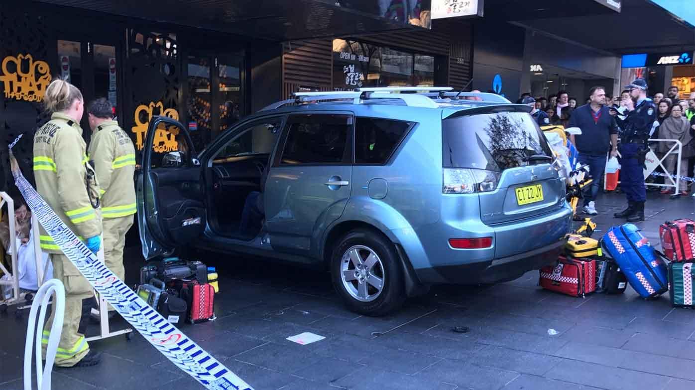 Car ploughs into crowd in Sydney, Australia