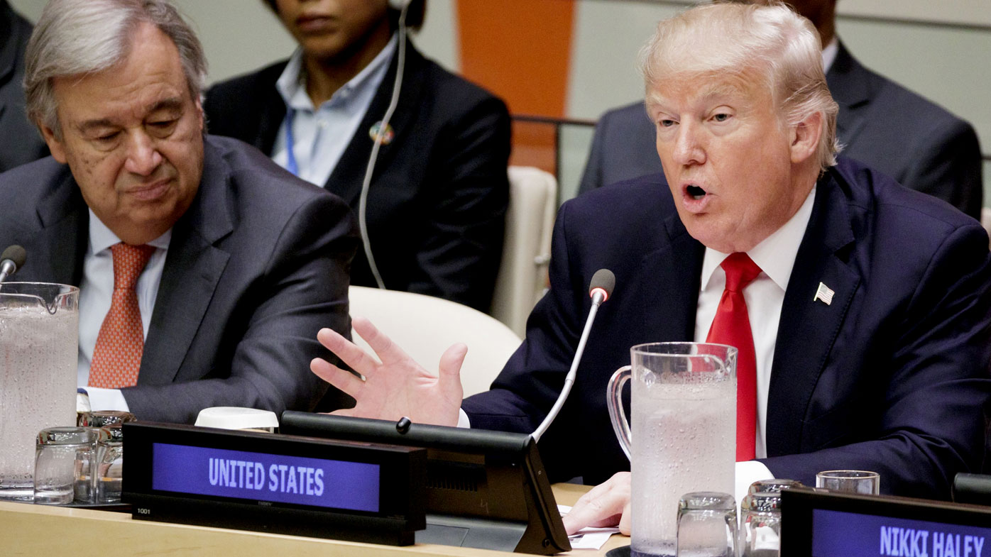 Blunt, fiery POTUS speech to United Nations  was 'signature Trump'
